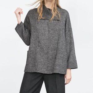 Zara Handmade Grey Sweater-Jacket.
